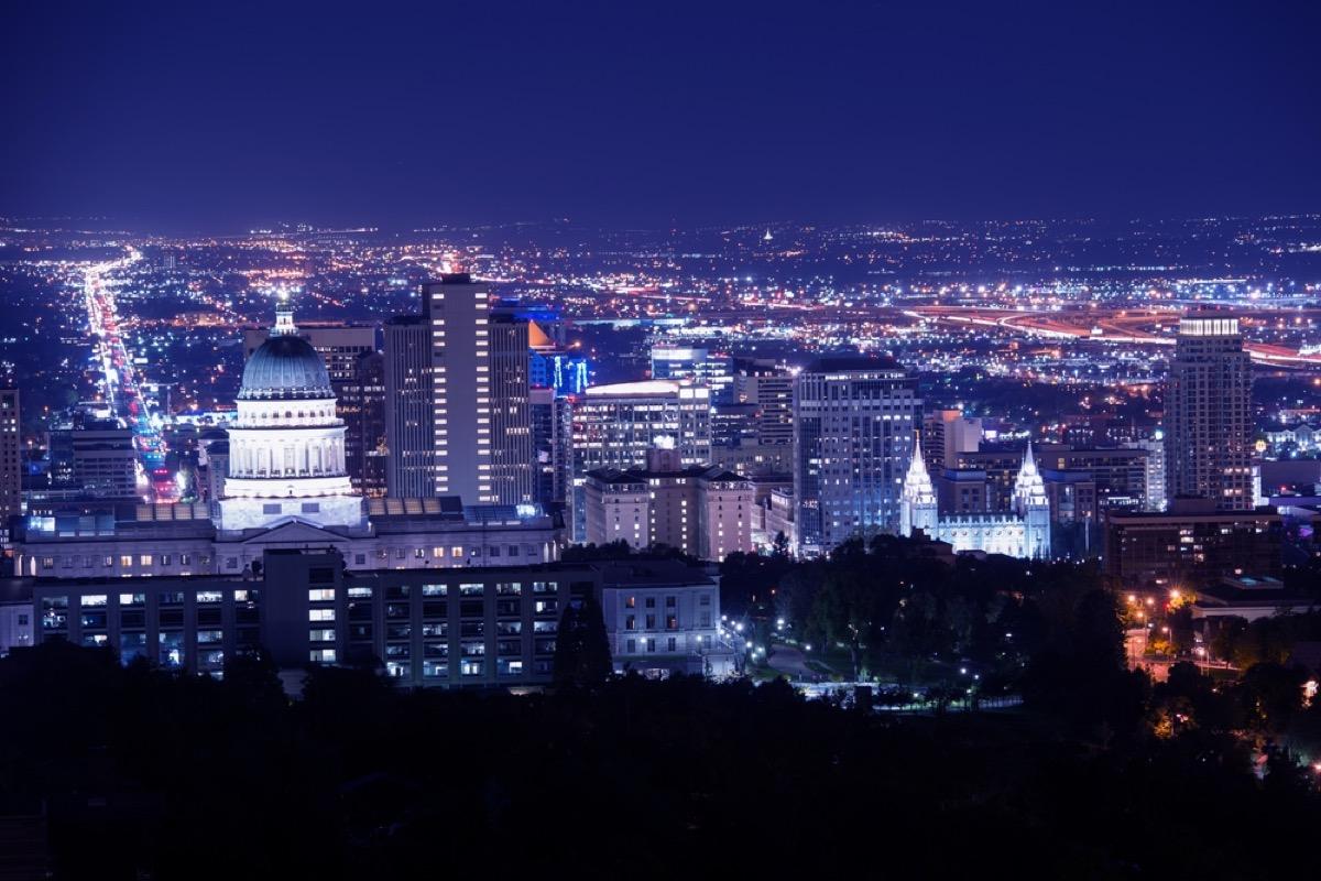 Salt Lake City Utah Skyline