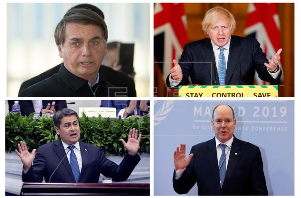 Bolsonaro, con Johnson y Alberto II, en la lista de mandatarios con COVID-19