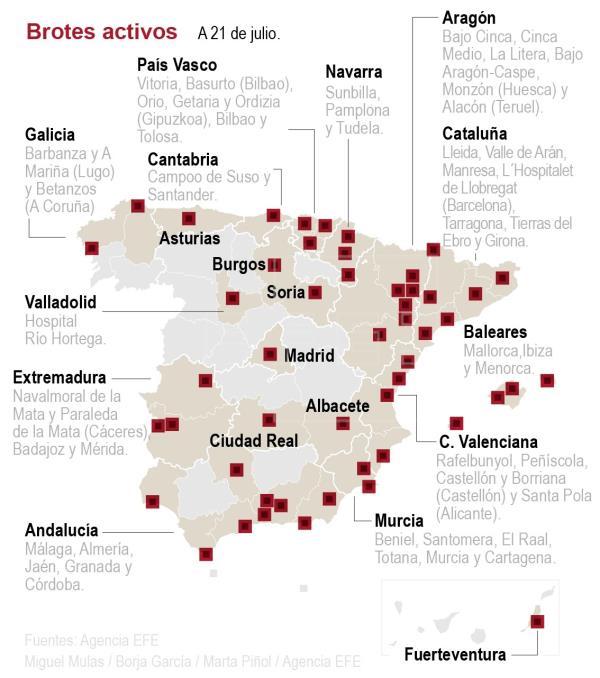 Sanidad notifica 529 positivos en 24 horas con descensos en Cataluña y Aragón