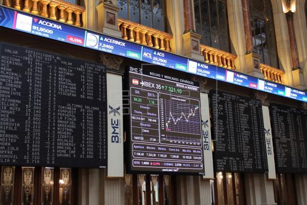 La Bolsa española sube el 1,08 % y recupera los 7.400 puntos