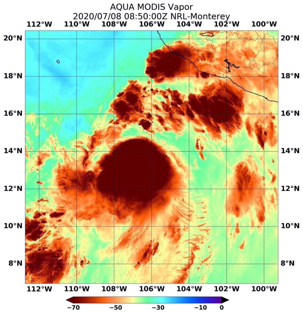 La NASA analyse la concentration de vapeur d'eau du cyclone tropical Damien