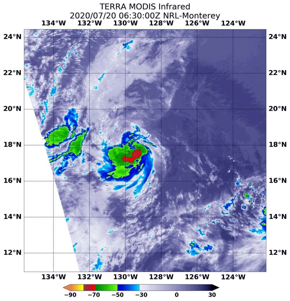 La NASA analyse la nouvelle dépression tropicale 7E de l'océan Pacifique oriental