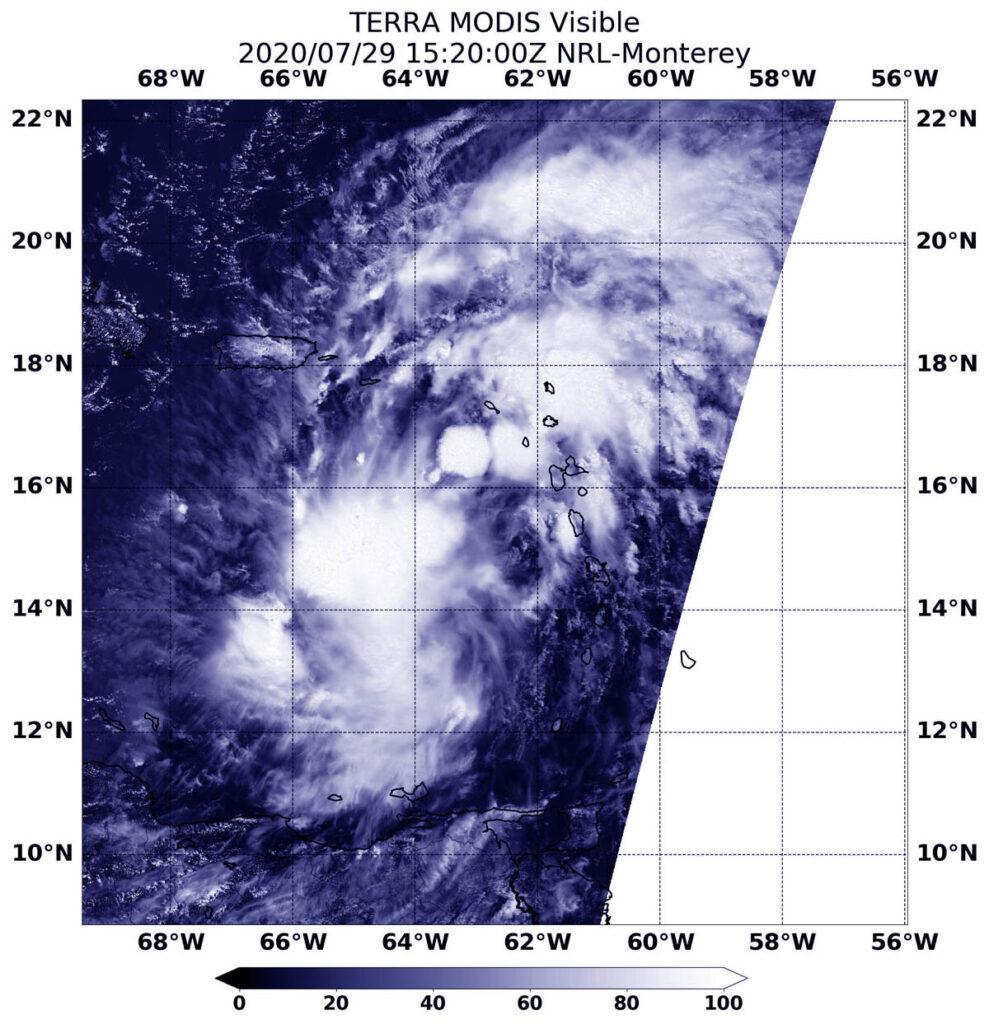 La NASA suit le cyclone tropical potentiel 9 dans les Caraïbes orientales