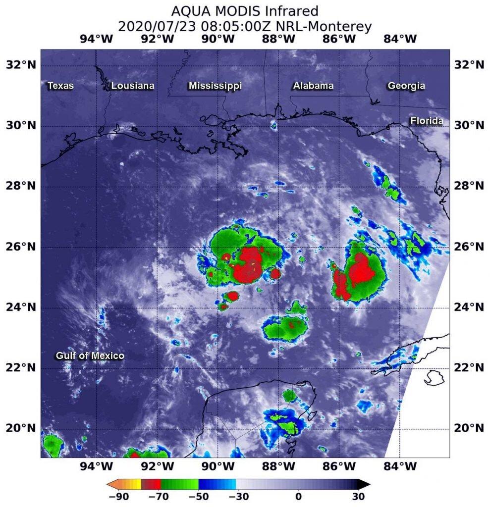 La NASA trouve sa force dans la nouvelle dépression tropicale du golfe 8