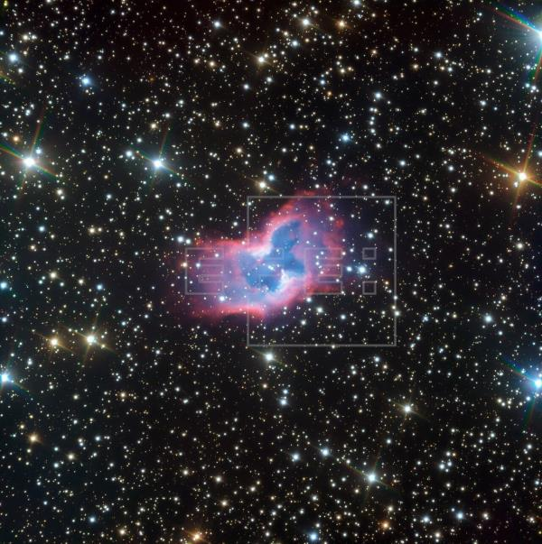 """Un telescopio del observatorio ESO capta nítidas imágenes de una """"mariposa espacial"""""""