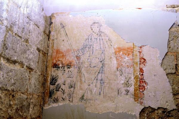 Las obras destapan unas pinturas murales del siglo XVI en Amayuelas (Palencia)