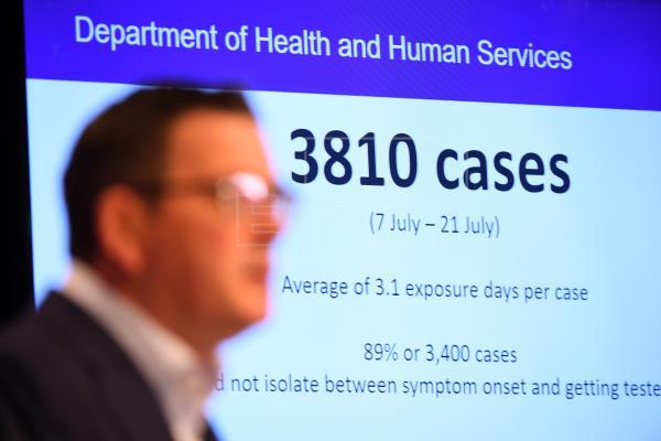 Nuevo máximo diario de infectados en el rebrote de la COVID-19 en Melbourne
