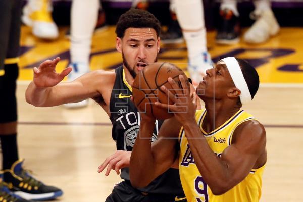 Rondo se fractura el pulgar en el entrenamiento de los Lakers