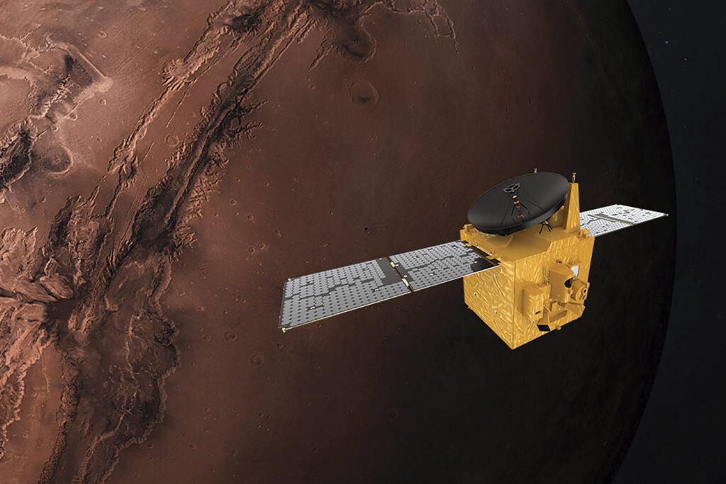 Une fusée japonaise transportant une sonde Mars des EAU prête pour son lancement lundi