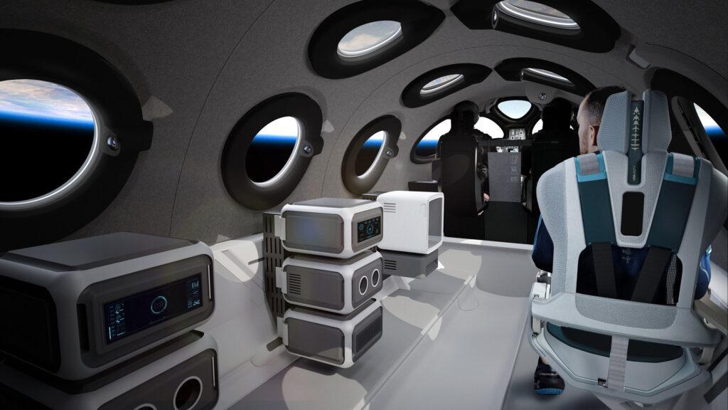 Virgin Galactic montre l'intérieur de la cabine de son vaisseau spatial