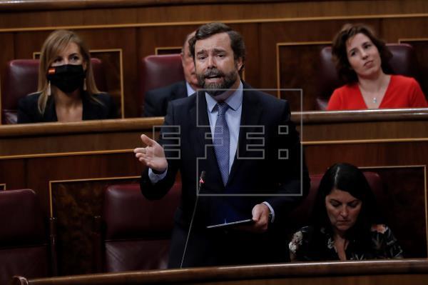 """Vox celebra la """"derrota"""" por primera vez del PSOE y Podemos en el Congreso"""