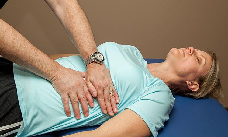 Massage du diaphragme